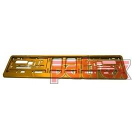 Podkładka pod tablicę rejestracyjną Średnie złoto połysk